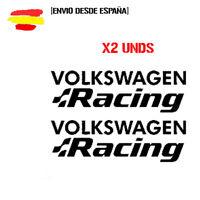 2 Pegatinas vinilo,Aufkleber,sticker,VOLKSWAGEN RACING R32 R20 RLINE GOLF POLO