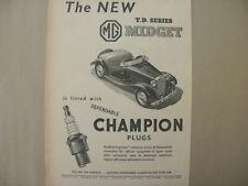 MG TD Midget.  Original 1950 advert.