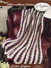 Subtle Softness Afghan Tns Mile A Minute Crochet Pattern/Instructions New