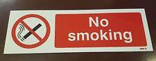 Signo de no fumadores 300mm X 100mm de plástico rígido