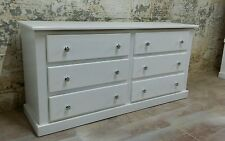 SHAFTESBURY FURNITURE 6 DRAWER LARGE CHEST 3+3 WHITE  (ASSEMBLED)