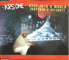 KRS ONE Step into a World 4TRX w/ RARE REMIXES & LIVE & EDIT CD single SEALED