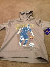 FC Barcelona Messi Youth XL Polyester Hoodie Hoody Sweatshirt. Brand New.