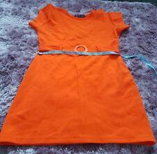 Vestido de estilo vintage 60s Naranja Nikita Clothing Company Child's XS Señoras Tamaño 6