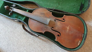 """Nice old  Stainer violin w. a lions head, Nicely flamed 1part back """"Bocek"""""""