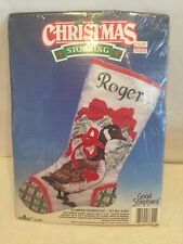 Christmas Stocking Stamped Crosstitch Kit No 87301 Good Shepherd New Sealed
