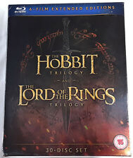 MIDDLE EARTH COLLECTION Hobbit & Lord of the Rings Trilogy BLU-RAY Extended Ed.