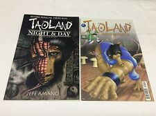 TAOLAND ADVENTURES #1 (ANTARTIC PRESS/NIGHT&DAY/091534) COMIC BOOK SET LOT OF 2