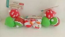 NEW 3 Lot Infantimo Squeeze & Squeak Holiday/Duck Ornaments
