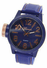 Jumbo Big Face Over Sized Crown Men's or Women's Watch With Soft Rubber Band