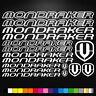 Mondraker Vinyl Decal Stickers Sheet Bike Frame Cycles Cycling Bicycle Mtb Road