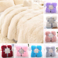 Faux Fur Shaggy Micro Warm Soft Blanket Cover Plush Luxury King Throw 160x200cm