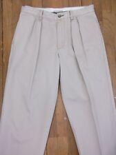 ORVIS KHAKIS Men's Size 34X30 Pleated Chinos Pants 100% Cotton EUC