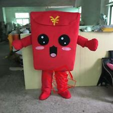 2019 Year Red Envelope Mascot Costume Character Adult Suit Christmas Fancy Dress