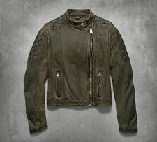 Genuine Harley-Davidson Ladies Distressed Leather Jacket, 97177-17vw, XL