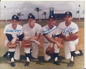 8x10 autographed photo -1962 NY Yankees Boyer, Kubek, Richardson, Pepitone