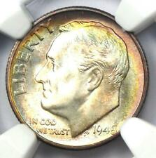 1948-S Roosevelt Dime 10C Rainbow Coin - NGC MS68 - Rare in MS68 - $1,500 Value!