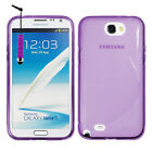 Funda TPU silicona GEL Flexible S Ola Samsung Galaxy Note 2 N7100 + Lámina