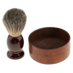 Professional Men Shaving Brush Soap Mug Cup Bowl Set Shave Razor Holder Stand