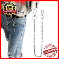 Stainless Steel Punk Hip-hop Waist Belt Chain Metal Bling For Men Jeans Pants