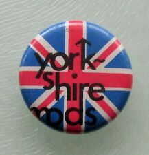 YORKSHIRE MODS OLD METAL BUTTON BADGE FROM THE 1970's/80's VESPA SCOOTER