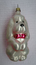 Russian Christmas Tree Glass Ornament Pink Puppy Dog Soviet Russia Собачка