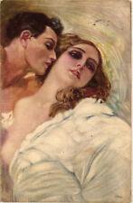 Metlicovitz - Art Deco - Coppietta Romantica, Romantic Couple - M072