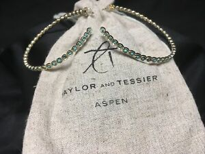 Taylor and Tessier Aspen Eternity Turquoise Hoops Earrings