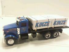 1/64 ERTL farm toy custom kinze Peterbilt dealer truck w/ 4 skids speccast dcp