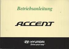 HYUNDAI ACCENT 3 Betriebsanleitung 2007 Bedienungsanleitung Handbuch Bordbuch BA
