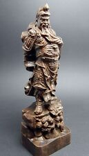 6 inch Guan Yu 关羽 Mighty Sculpture Agarwood wood carved statue Collection