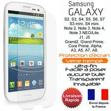 Vitre protection- film protecteur d'écran en verre trempé Samsung galaxy