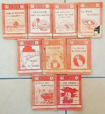 LOT DE 9 LIVRES ROSES POUR LA JEUNESSE - 1909-1920 - Tous différents.