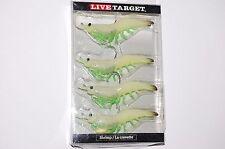 """koppers live target soft bait glow shrimp 3"""" 1/4oz redfish sea trout stripers"""