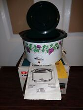 Vintage Rival Crock-Ette Slow Cooker Crock Pot Model 3205 1QT Crockery Green