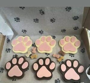 Dog Treat Chocolate Paw Birthday Box Pink Girl
