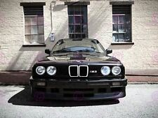 PHOTOGRAPH BMW M3 SERIES 3 E30 CAR AUTOMOBILE FRONT GRILL POSTER ART LV10660