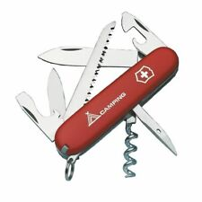 New Victorinox Camper Red Swiss Army Pocket Knife -  13 Tools