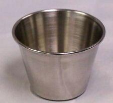 (12 EA) 2.5 OZ Stainless Steel Sauce Cup Ramekin Souffle Heavy Duty Dressing