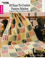 63 Easy-To-Crochet Pattern Stitches Heirloom Afghan   Leisure Arts 555 New!