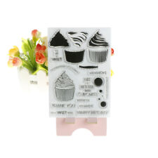 Cupcakes DIY Transparent Silicone Clear Stamps Scrapbooking Album Cards DecorFT