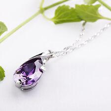 10xAmethyst Opal Gemstone Teardrop Pendant Reiki Healing Bead For Necklace Decor