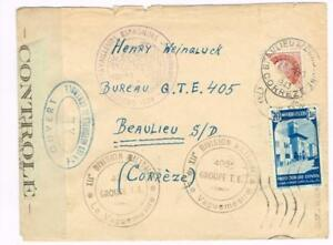 Spanish Morocco Sc#209(stamp missing)TANGER to INTERNMENT CAMP