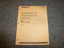 Caterpillar CAT 990 Wheel Loader Tractor Owner Operator Maintenance Manual 7HK