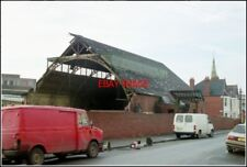 PHOTO  PENARTH WALES  THE DRILL HALL DEMOLITION HAS BEGUN OF A RELIC OF TWO WORL
