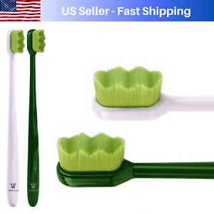 Wimolek Extra Soft Nano Toothbrush- Aloe Infused Bristle for Sensitive Gums (2P)