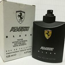 FERRARI BLACK COLOGNE MEN 4.2 OZ 125 ML EDT SPRAY TESTER BOXED NO CAP IN BOX