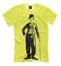 Charles Spencer «Charlie» Chaplin t-shirt - English comic yellow lemon color tee