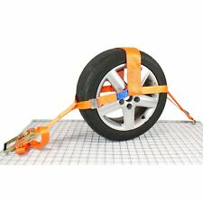 Car Dolly Trailer Recovery Ratchet Tie Down Straps Fully Adjustable - set of 2
