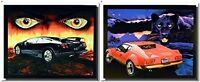 Lamborghini Diablo And Pantera Red Ferrari Car Two Set Wall Decor Art Print 8x10